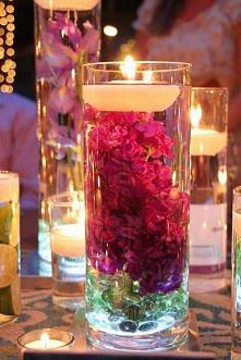 piękna dekoracja ze świeczki