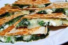 quesadilla (szpinak + mozzarella + feta)