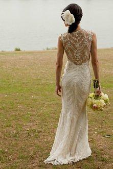 koronkowa suknia / plecy <3