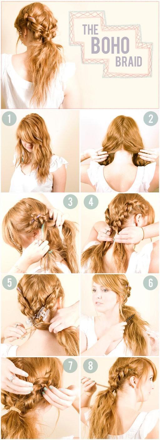 Как сделать красивые прически на средние волосы легкие 357