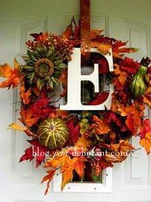 jesienny żywy wianek