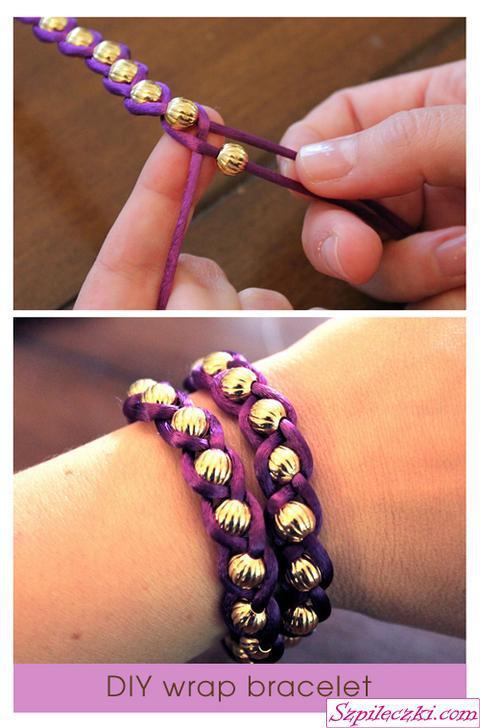 Jak zrobić bransoletkę z koralików i sznurka ?