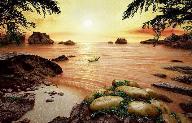 Krajobrazy wykonane z jedzenia, Food Art, Carl Warner