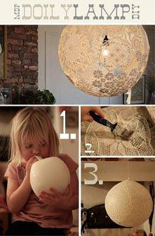 koronkowa lampa.. piękne wykonanie!