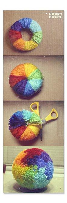 Kolorowy pompon :D