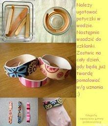 bransoletki z patyczków po lodach ;D