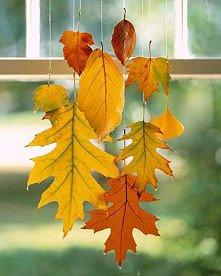 jesienna dekoracja wiszaca