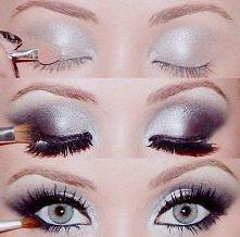 srebrny makijaż