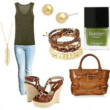 brown + green