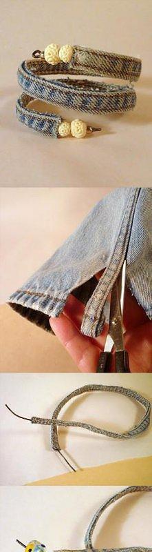 ze starych jeansów