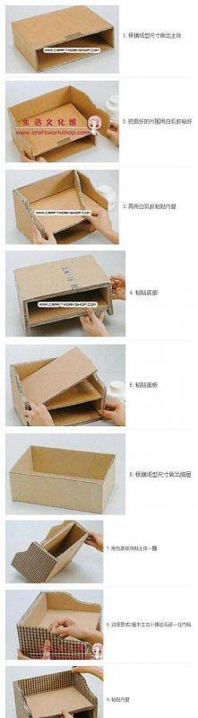 z kartonowego pudełka...
