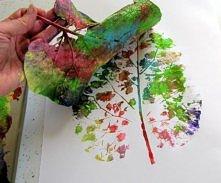 Lisc pomalowany farbami ;D