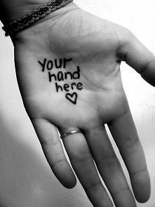 your hand here