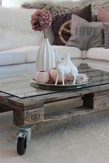 stolik z palety.