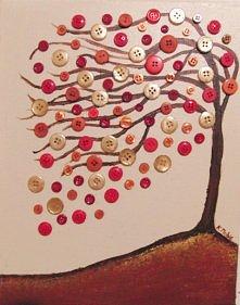 guzikowe drzewko