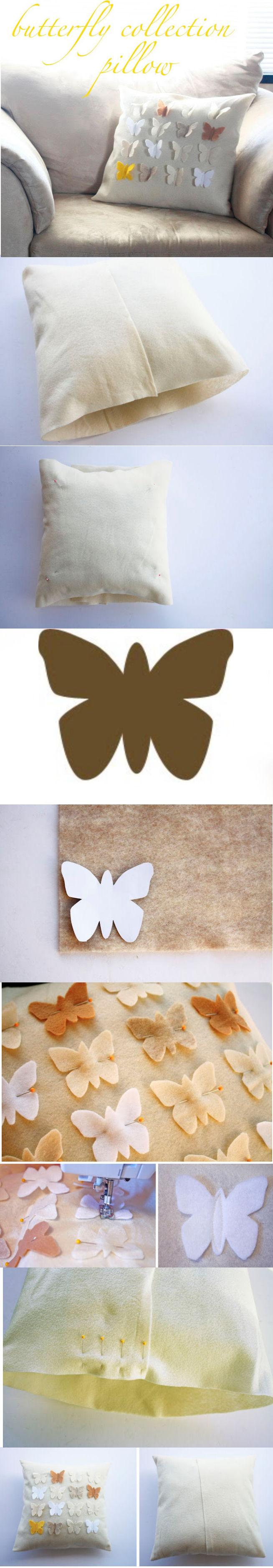 poduszka z motylami