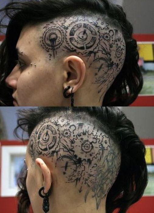 Tatuaż Na Głowie Na Tatoopiercing Zszywkapl