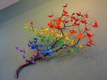 drzewo z origami