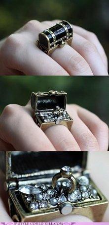 pierścionek skrzynia