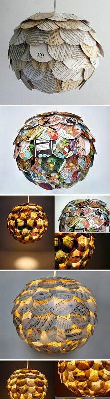 Gazetowa lampa :)