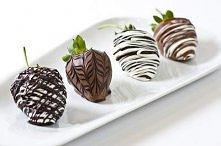 truskawki z czekoladą