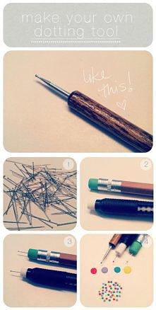 łatwe w wykonaniu narzędzie do robienia kropeczek na paznokciach.