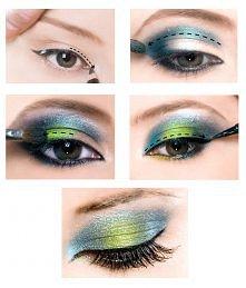 """Makijaż oczu """"krok po kroku"""" Makijaż- czyli kupiłam zestaw pędzli i zamierzam go wykorzystać:)"""