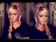 Messy fishtail hairstyle