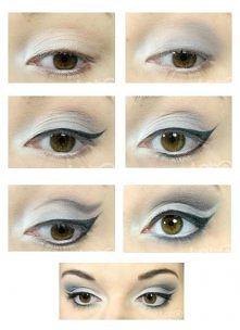 Makijaż oczu w szarościach :)