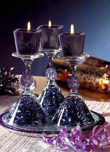 Świeczniki z kieliszków