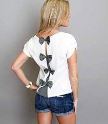 bluzeczka z kokardkami