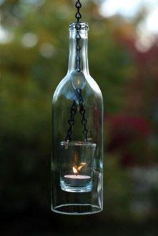 Lampion z butelki