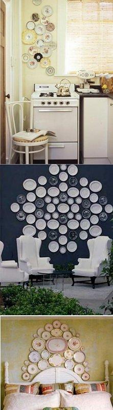 dekoracja z talerzy