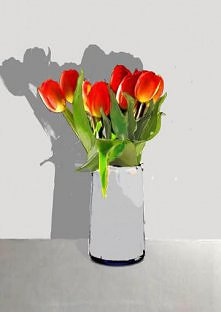 tulipany grafika