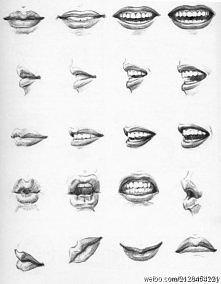 Jak narysować usta.