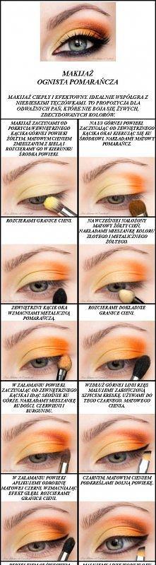 Makijaż Ognista Pomarańcza...