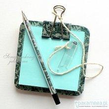 A tu mały notesik z magnesem, żeby o niczym nie zapomnieć z kretesem