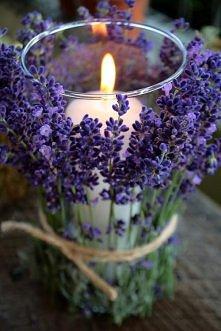 Lawendowy świecznik