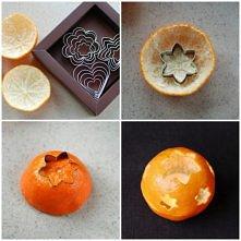 świecznik z mandarynki