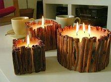 cynamonowe świeczki
