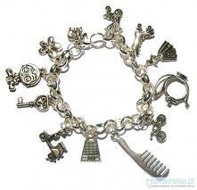bransoletka z elementów posrebrzanych.