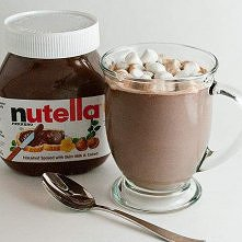 -1 cup of milk (any kind of milk will work) -2 spoonfuls of Nutella (this is ...