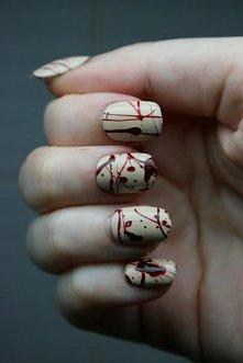blood splattered nails