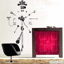 zegar w formie naklejki