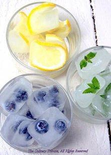 Kostki lodu- owocowo