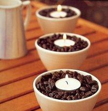 kawowe świeczniki