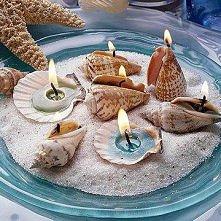świeczki z muszelek