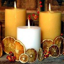 Pomarańczowe świece