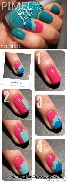 paznokcie 3 kolory