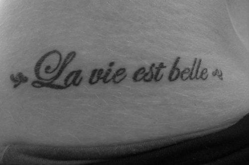 La Vie Est Belle Na Tatuaże Zszywkapl